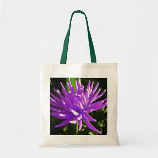 Purple dahlia bags
