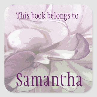 Purple Dahlia Bookplate Sticker