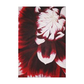 Purple Dahlia Stretched Canvas Print