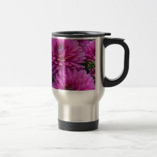 Purple dahlia flower garden coffee mugs