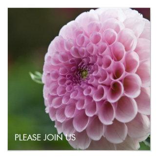 """Purple Dahlia 5.25"""" Square Invitation Card"""