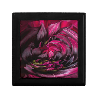 Purple Dahlia Small Square Gift Box