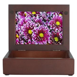 Purple Dahlias Keepsake Box