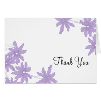Purple Daisies Bridesmaid Thank You Note Card