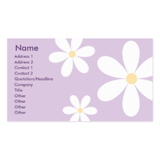 Purple Daisies - Business Pack Of Standard Business Cards