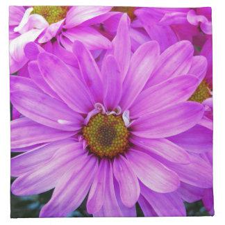 Purple Daisies - Cloth Napkins