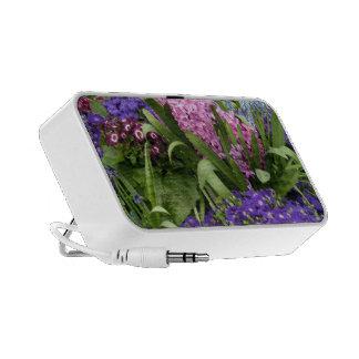 Purple Daisies Pink Hyacinths Laptop Speaker