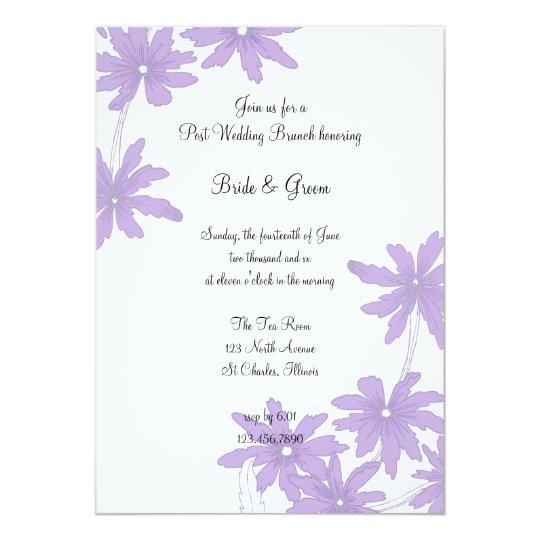 Purple Daisies Post Wedding Brunch Invitation