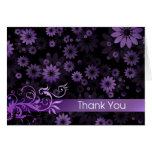 Purple Daisies Thank You Card