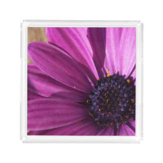 Purple Daisy Acrylic Tray