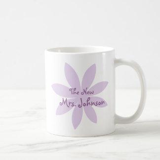 Purple Daisy Bridal Coffee Mug