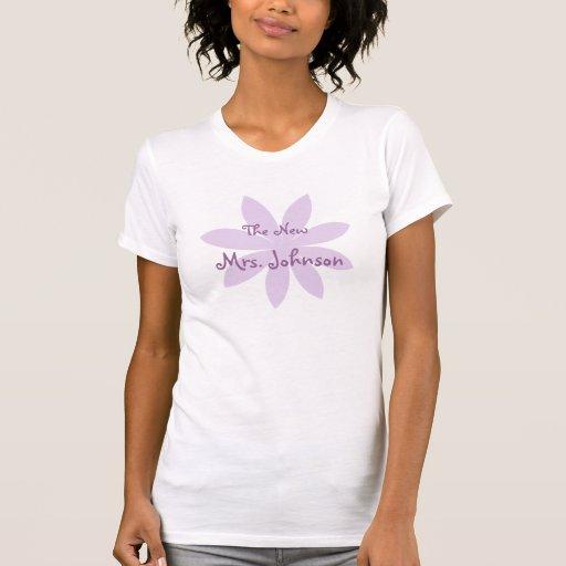 Purple Daisy Bridal Tee Shirt