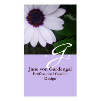 Purple Daisy Double-Sided Standard Business Cards (Pack Of 100)
