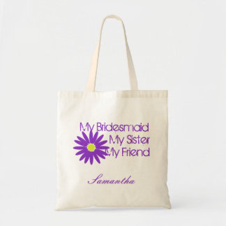 Purple Daisy/ Customizable Budget Tote Bag