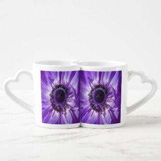 Purple Daisy Duo Couple Mugs