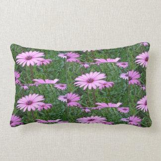 Purple Daisy Field Pattern Lumbar Cushion