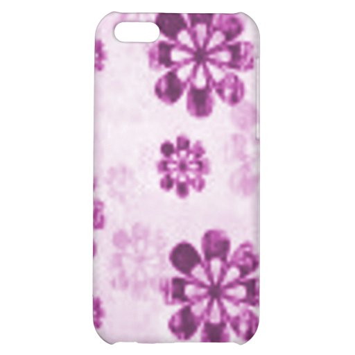 Purple Daisy Floral Grunge Pattern iPhone 5C Case