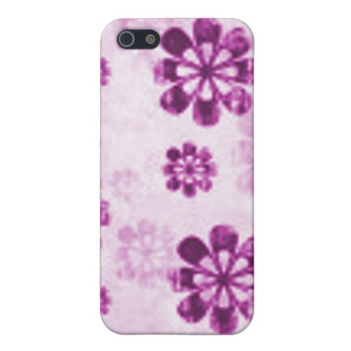 Purple Daisy Floral Grunge Pattern Covers For iPhone 5