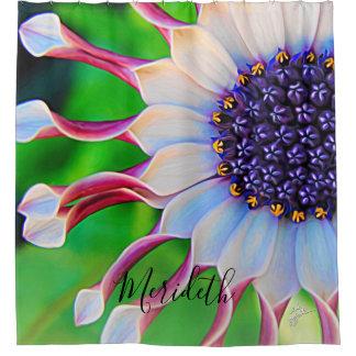 Purple Daisy Floral Trendy Girly Custom Shower Curtain
