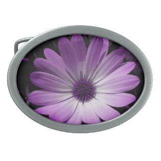 Purple Daisy Flower Belt Buckle