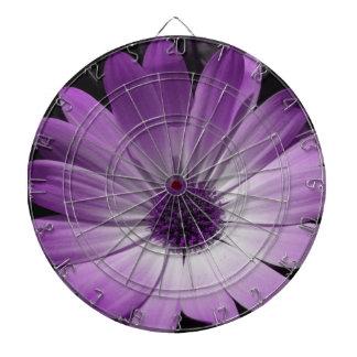 Purple Daisy Flower Dart Board
