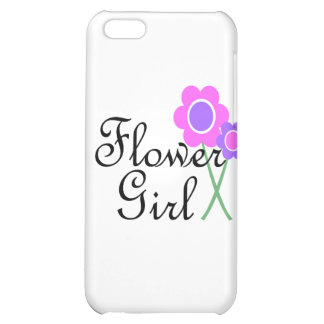 Purple Daisy Flower Girl iPhone 5C Cases