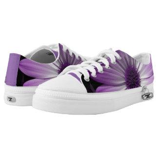 Purple Daisy Flower Low Top Shoes