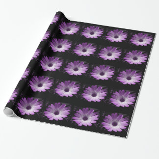 Purple Daisy Flower Wrapping Paper