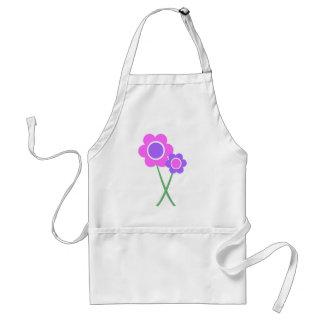 Purple Daisy Flowers Aprons