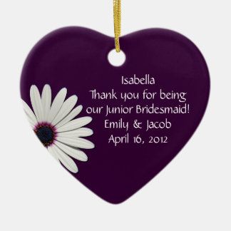Purple Daisy Junior Bridesmaid Ornament