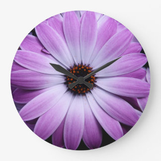 Purple Daisy Large Clock