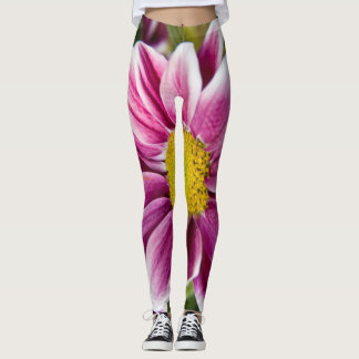 Purple daisy leggings