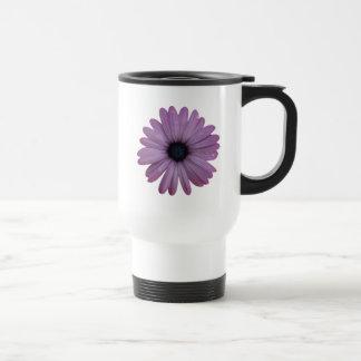 Purple Daisy Like Flower Osteospermum ecklonis Stainless Steel Travel Mug