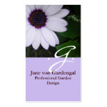 Purple Daisy Pack Of Standard Business Cards