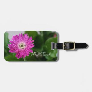Purple Daisy personalised Luggage Tag