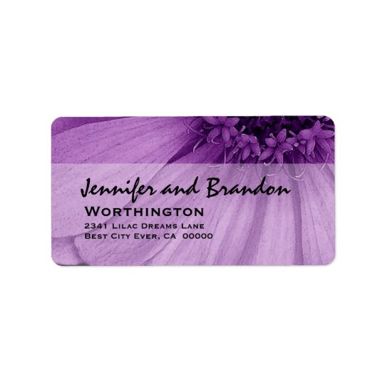 Purple Daisy Petals Address Label