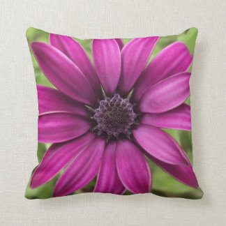 Purple Daisy Polyester Throw Pillow
