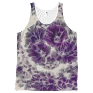 Purple Daisy Swirl All-Over Print Tank Top