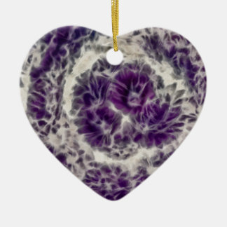 Purple Daisy Swirl Christmas Ornament
