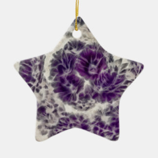 Purple Daisy Swirl Christmas Ornament