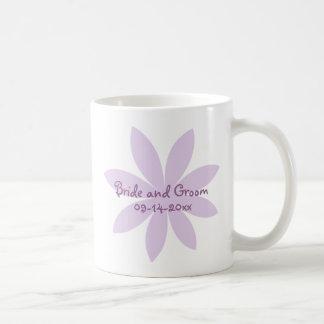 Purple Daisy Wedding Coffee Mug