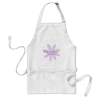 Purple Daisy Wedding Standard Apron