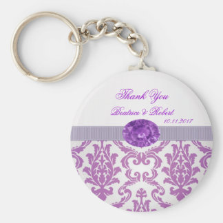 Purple Damask, amethyst picture Keychain