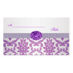 Purple Damask, amethyst picture Wedding Place card Pack Of Standard Business Cards