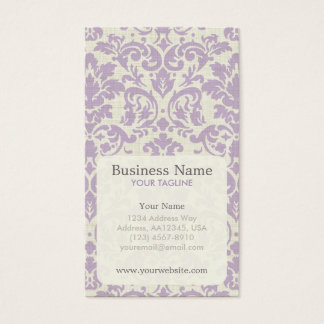 Purple Damask Appointment Business Card