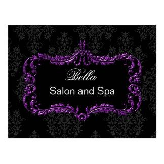 purple damask business ThankYou Cards