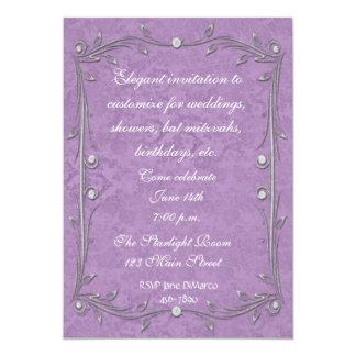 Purple Damask Elegance Invitations