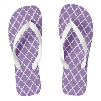 Purple Damask Flip Flops