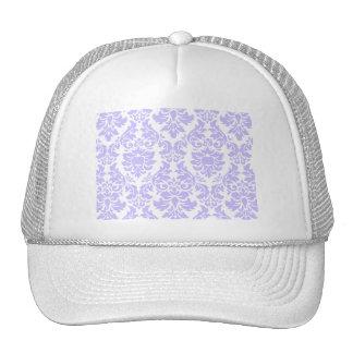 Purple Damask Mesh Hats