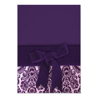 Purple Damask Invitations